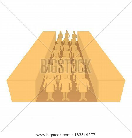 Terracotta army icon. Cartoon illustration of terracotta army vector icon for web