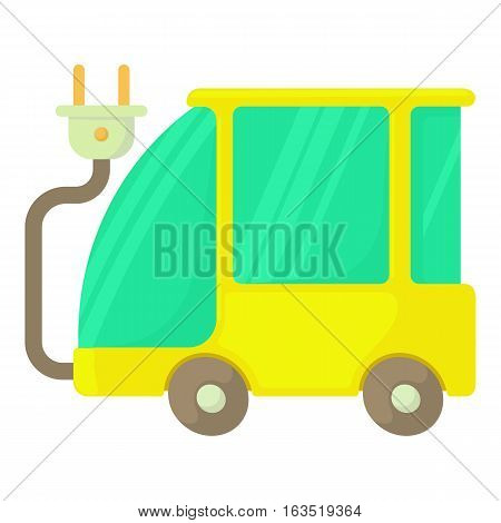 Eco car icon. Cartoon illustration of eco car vector icon for web