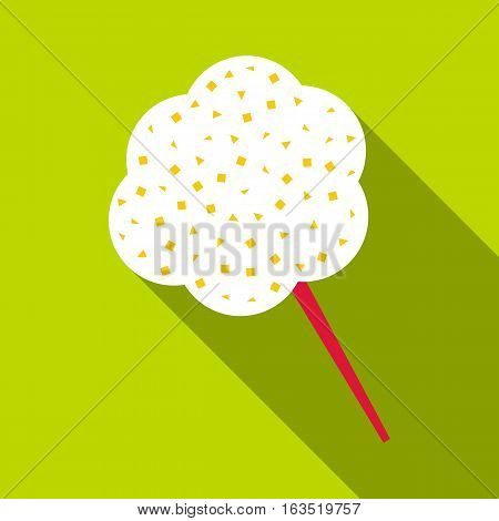 Cotton candy icon. Flat illustration of cotton candy vector icon for web
