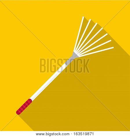 Rake icon. Flat illustration of rake vector icon for web