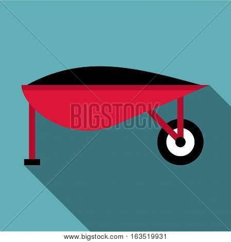 Gardening trolley icon. Flat illustration of gardening trolley vector icon for web