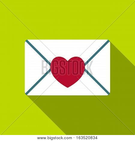 Nice love letter icon. Flat illustration of nice love letter vector icon for web