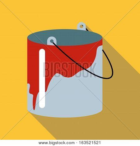 Bucket icon. Flat illustration of bucket vector icon for web