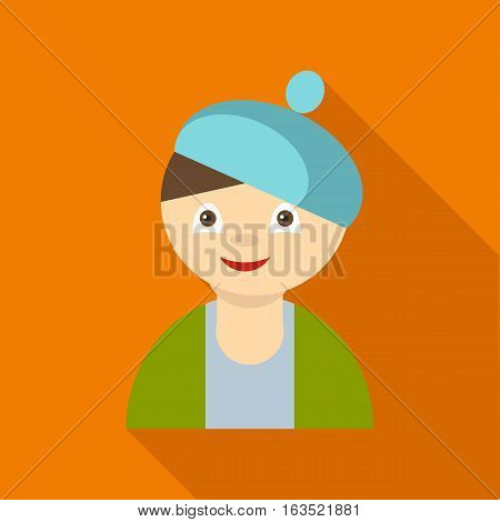Artist icon. Flat illustration of artist vector icon for web