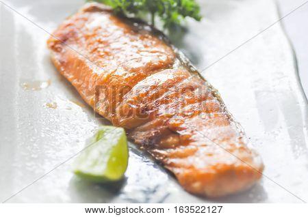 grilled salmonsalmon or Yaki Sake (Japanese food)