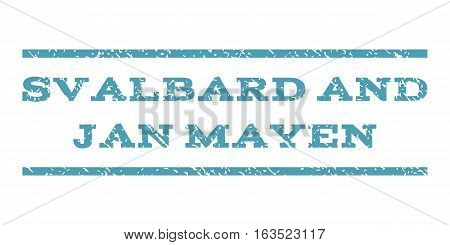 Svalbard and Jan Mayen watermark stamp. Text caption between horizontal parallel lines with grunge design style. Rubber seal stamp with dust texture.