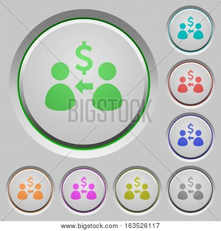 Receive Dollars color icons on sunk push buttons