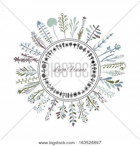 Flowers and herbs drawn by hand pencil and pen. It can be used to design your goods, for example in cosmetics design