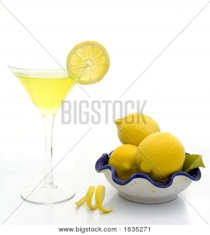 Refeshing Summer cocktail Lemon drop martini with a twist poster