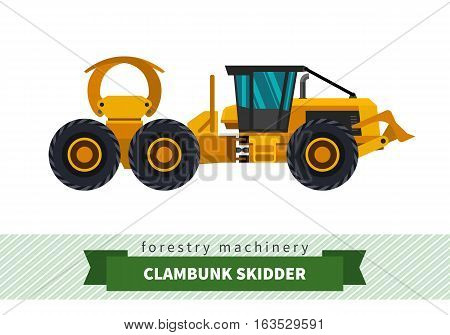 Clambunk Skidder Forestry Vehicle