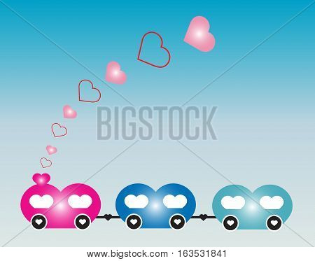 Steam Locomotive And Train By Heart Or Love Train Idea