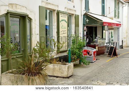 Le Bois Plage en Re France - september 27 2016 : the picturesque village in autumn