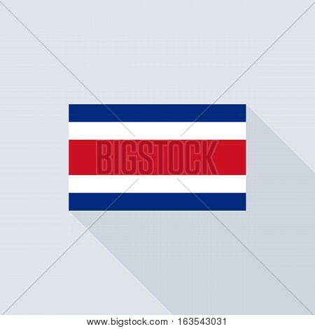 Costa rica flag , flat design vector with official proportion