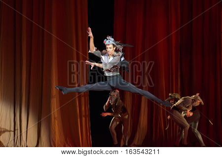 DNIPRO UKRAINE - DECEMBER 30 2016: Nutcracker ballet performed by Dnipro Opera and Ballet Theatre ballet.