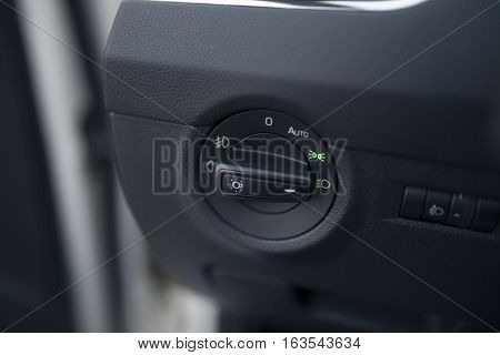 car lights switch button headlight devices including the rotation of the handle panel