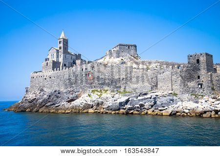 Porto Venere, Italy - June 2016 - San Pietro Church