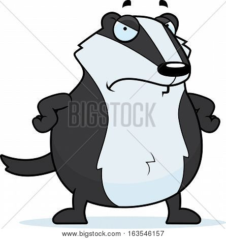 Cartoon Badger Angry