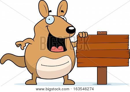 Cartoon Wallaby Sign