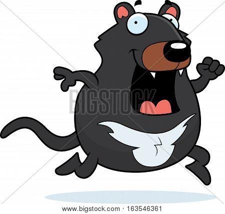 Cartoon Tasmanian Devil Running