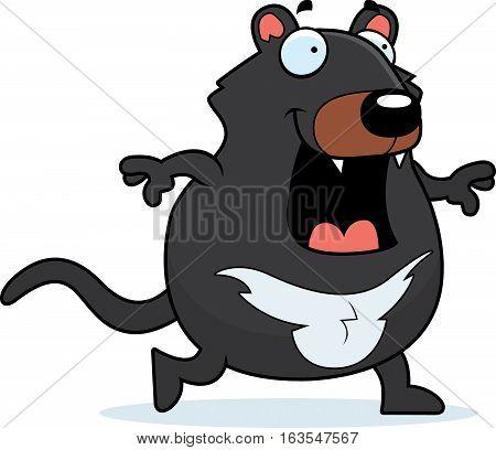 Cartoon Tasmanian Devil Walking