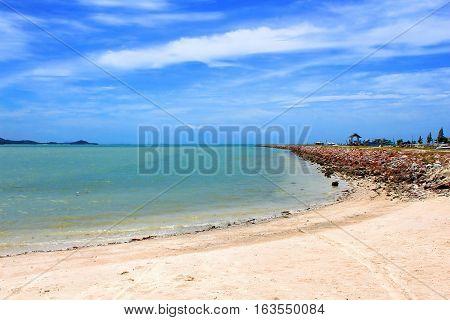 Beautiful tropical beach in Samui island, Thailand