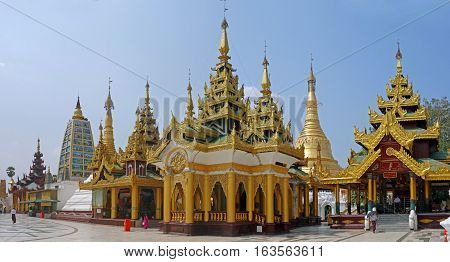 The Shwedagon Pagoda is one of the most famous pagoda in the world and the main attraction of Yangon, Myanmar.