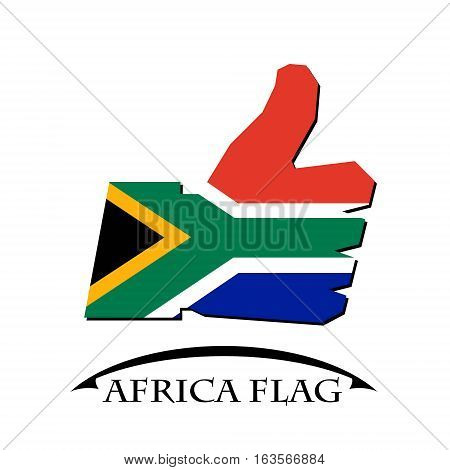 like icon made from the flag of Africa flag