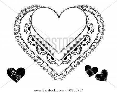 Henna Heart shaped frame