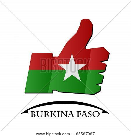 like icon made from the flag of Burkina Faso
