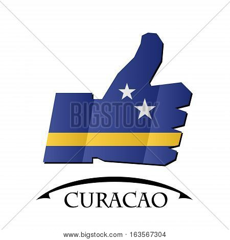 like icon made from the flag of Curacao