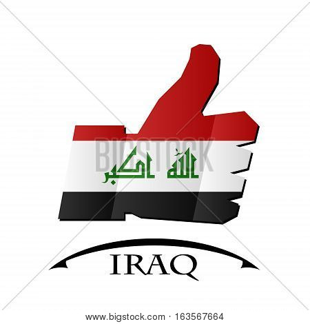 like icon made from the flag of Iraq.