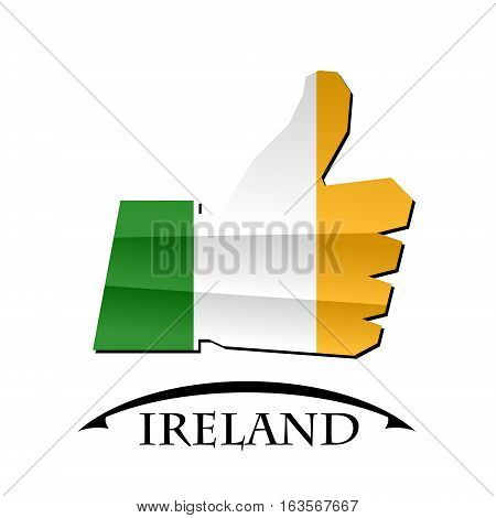 like icon made from the flag of Ireland
