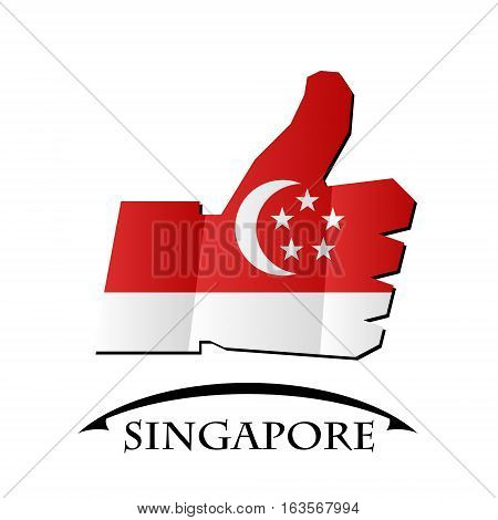 like icon made from the flag of Singapore