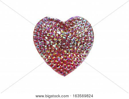 ring heart with bright crystals jewellery fashion style