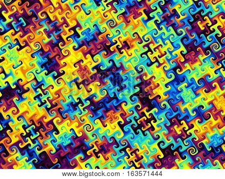 Geometrical abstract pattern. Colorful ornamental psychedelic art background