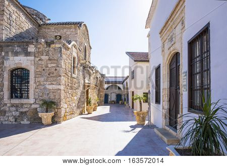 Greece Cyprus Larnaka the houses behind the St. Lazarus church