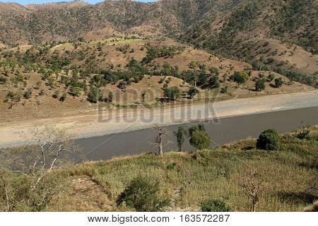 The River of Blue Nile in Ethiopia