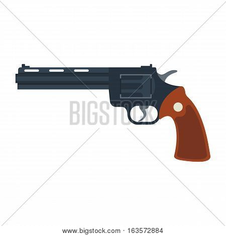 Weapon vector handgun icon. Pistol submachine military safety sniper security revolver icon. Violence firearm police ammunition illustration isolated.