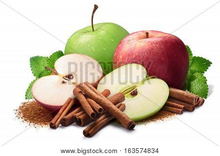 Melissa, Red And Green Apples With Cinnamon, Paths