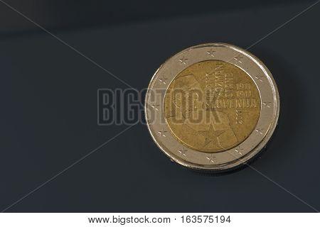 Commemorative 2 Eur Coin, Slovenia, Franc Rozman Stane