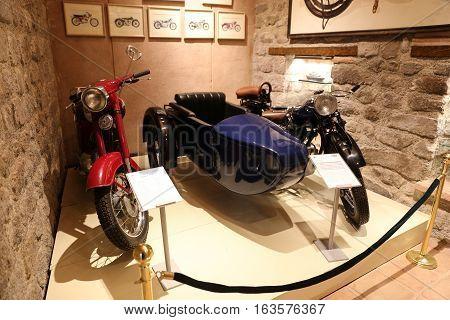 Old Motorcycles In Koc Museum