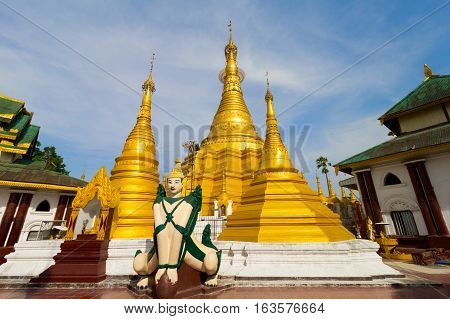 Wat Ja Dee Thong temple in Myawaddy, Myanmar