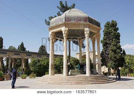 SHIRAZ, IRAN - OCTOBER 7, 2016: Shrine and mosque Ali ebn-e Hamzeh on October 7, 2016 in Shiraz, Iran, Asia