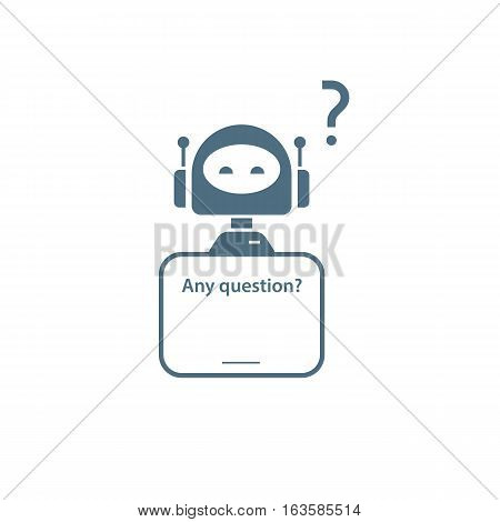 Robot icon for Online tech support service on website