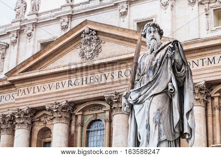 Paul The Apostle And St Peter Basilica In Vatican