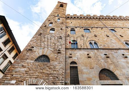 Building Of Bargello Palace In Florence City