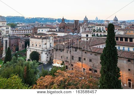 View Of Buildings Of Old Rome City From Capitoline