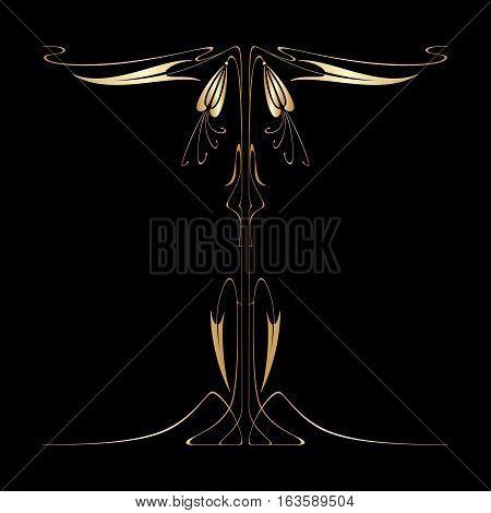 Vector Art Nouveau Card.