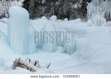 Frozen Pile Of Snow.