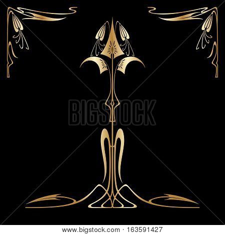 Vector Art Deco Card.